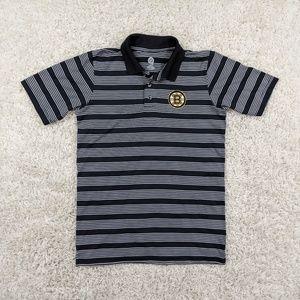 NHL Boston Bruins Polo Shirt Men Medium Black A13